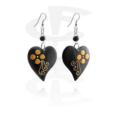Earrings, Studs & Shields, Earrings, Surgical Steel 316L, Wood