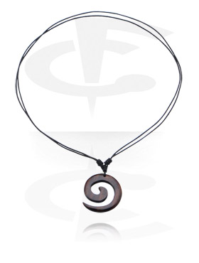 Kožený náhrdelník s přívěskem