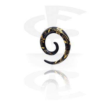 Handgeschilderde Spiraal