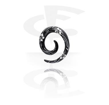 Handbemalte Spirale