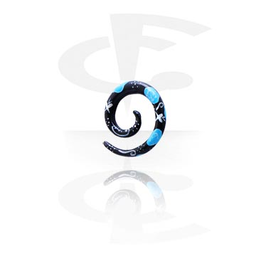 Hand painted Spiral