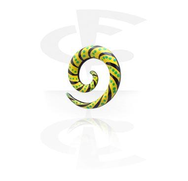 Spirale peinte à la main pour étirement du lobe
