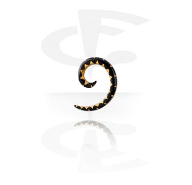 Handmålad Spiral