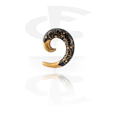 Accessori per dilatar, Spirale dipinta a mano, Legno
