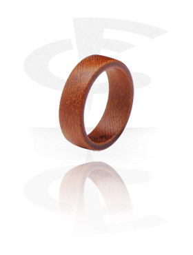 Fingerringe, Ring, Teakholz