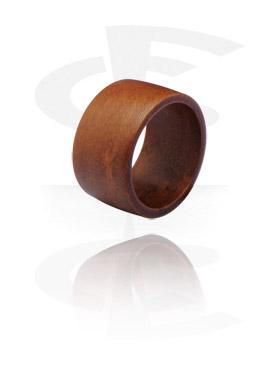 Fingerringe, Ring, Teakholz