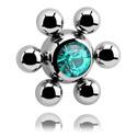 Boules et Accessoires, Jeweled Flower Ball, Acier chirurgical 316L