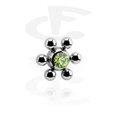 Blumenkugel mit Kristallstein
