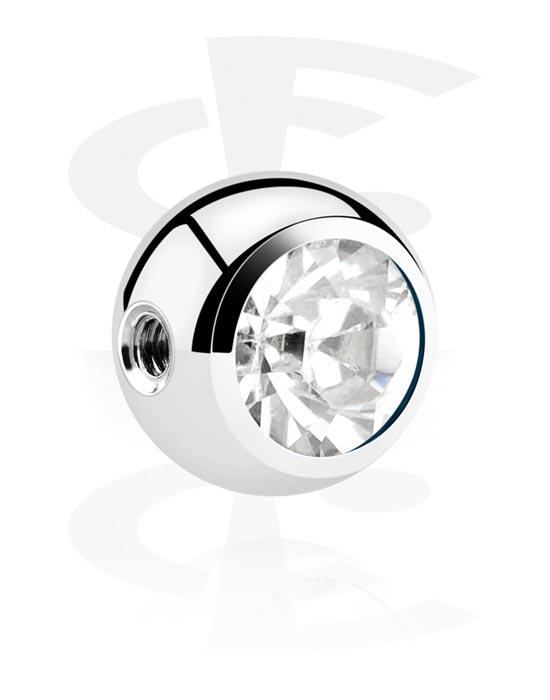 Palloja, nappeja ynnä muuta, Ball kanssa crystal stone, Kirurginteräs 316L