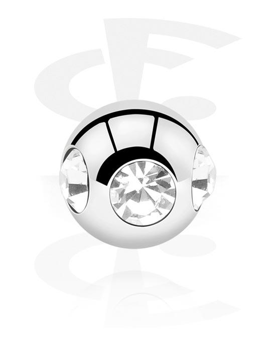Palloja, nappeja ynnä muuta, Ball kanssa crystal stones, Kirurginteräs 316L