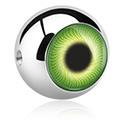 Bolas y Accesorios, Bola con diseño de ojo para ball closure Aro, Acero quirúrgico 316L