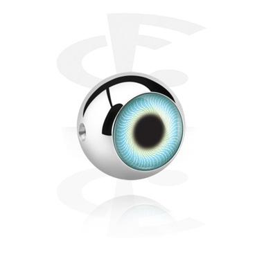 Připínací kulička v podobě oka na kroužek s kuličkou
