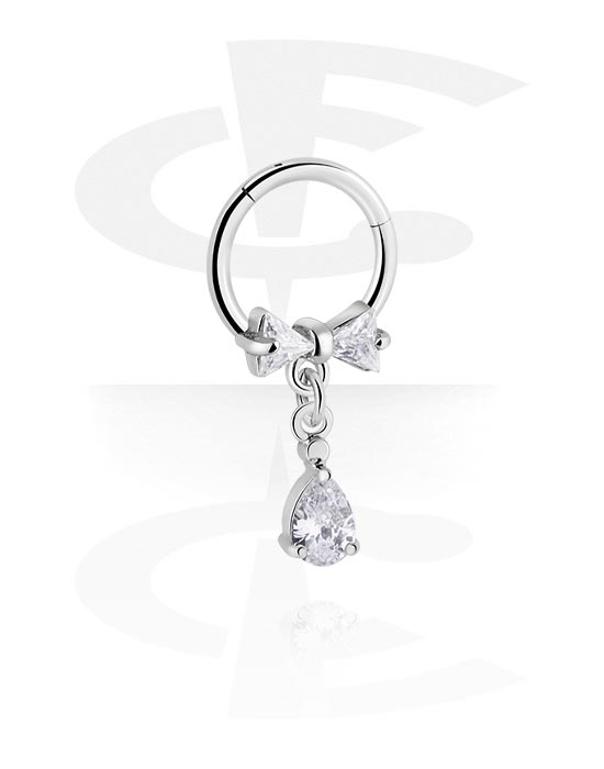 Renkaat, Monikäyttönipistin kanssa charm ja crystal stones, Kirurginteräs 316L ,  Pinnoitettu messinki