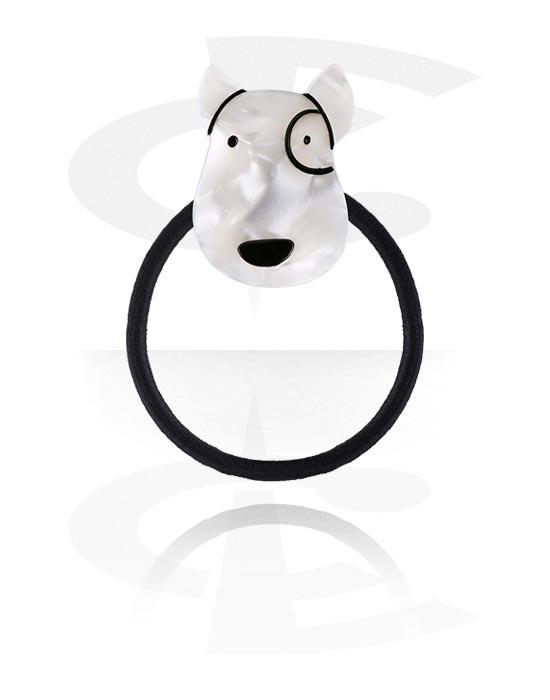 Hiuskorut, Hairband kanssa Dog Design, Joustonauha, Akryyli