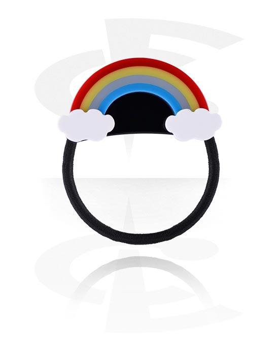 Hiuskorut, Hairband kanssa Rainbow Design, Joustonauha, Akryyli