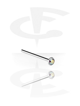 Nose Jewelry & Septums, Jewelled Nose Stud, Surgical Steel 316L