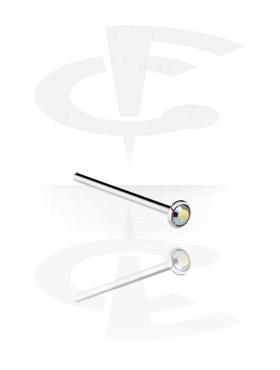 Piercings Nariz, Piercing de nariz con brillante, Acero quirúrgico 316L