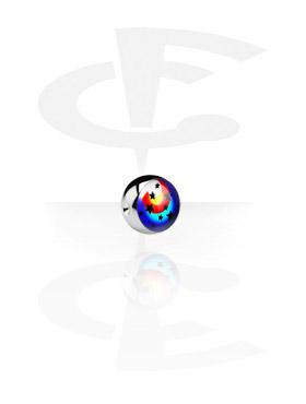 Balletje met afbeelding voor Ball Closure Ringen