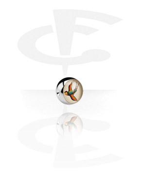 Boules et Accessoires, Picture Ball pour BCR, Acier chirurgical 316L