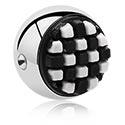 Kulki i inne zakończenia, Ball for Ball Closure Ring with silicone attachment, Surgical Steel 316L