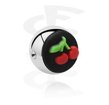 Silikonikoristeinen pallo ball closure -rengasta varten