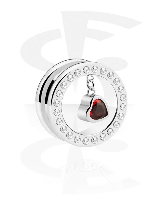 Tunnels & Plugs, Tunnel with heart attachment, Surgical Steel 316L
