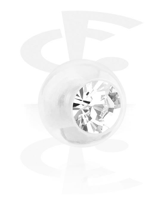 Kuličky, kolíčky a další, Ball s crystal stone, Akryl