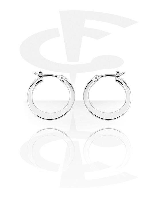 Náušnice, Earrings, Chirurgická ocel 316L, Pokovená mosaz