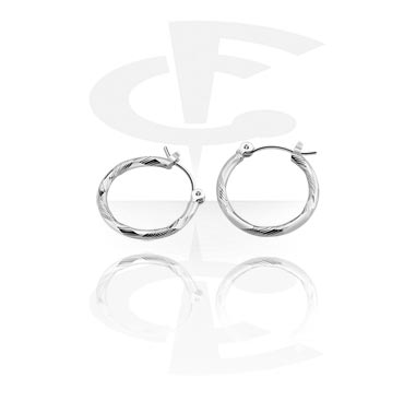 Naušnice, Earrings, Surgical Steel 316L, Plated Brass