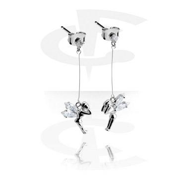 Naušnice, Ear Studs, Plated Brass