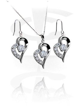 Necklaces, Necklace-Set with Earrings, Plated Brass
