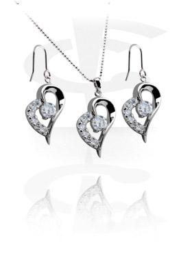 Kaulakorut, Necklace-Set with Earrings, Plated Brass