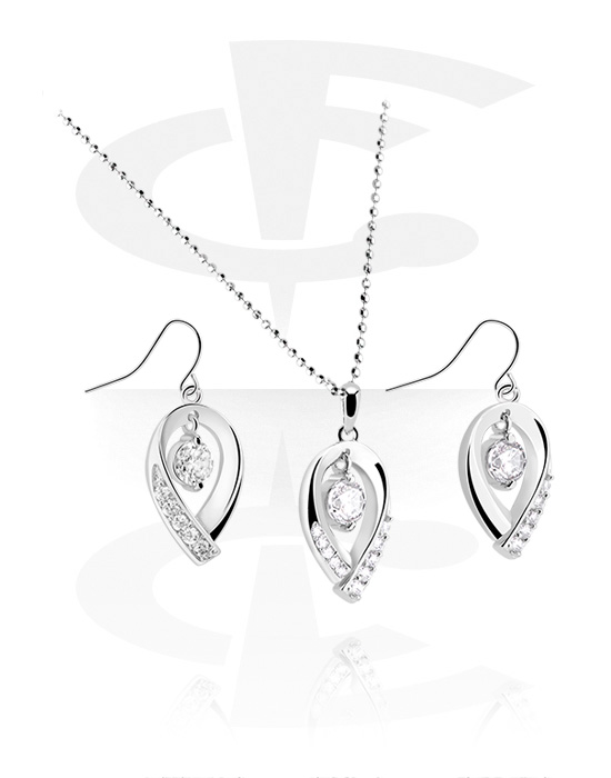 Náhrdelníky, Necklace and Earrings set, Pokovená mosaz