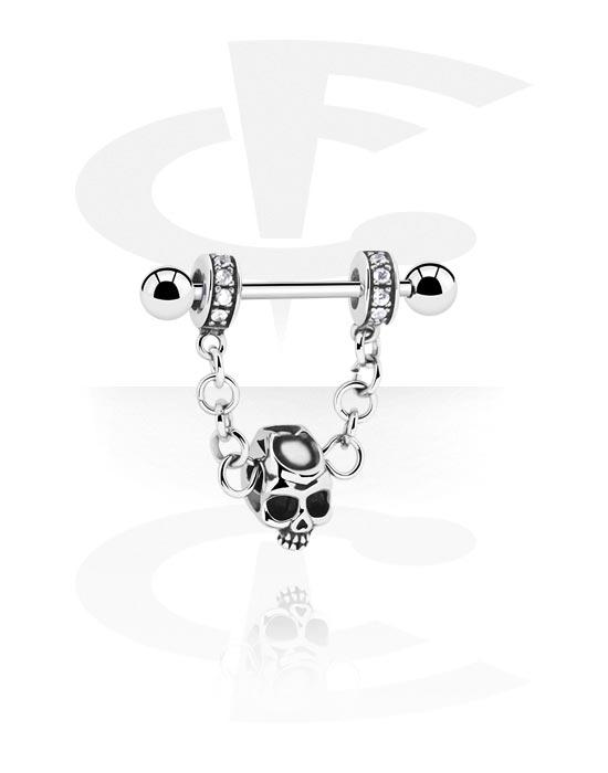 Piercingové šperky do bradavky, Nipple Barbell, Chirurgická ocel 316L