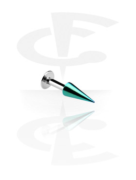 Labret with Anodised Long Cone