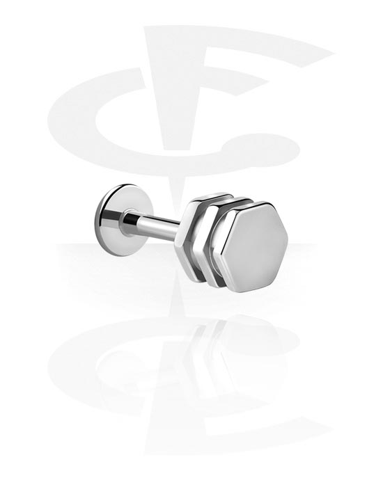 Labrety, Labret with Bolt, Surgical Steel 316L