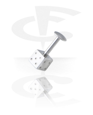 Labrety, Labret with Dice, Surgical Steel 316L