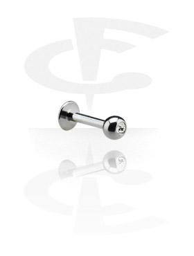 Labreti, Jeweled Labret, Surgical Steel 316L