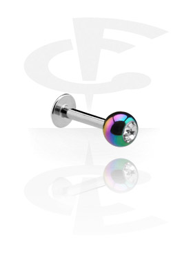 Labret with Anodised Jeweled Ball