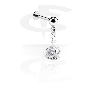Labrets, Labret with pendant, Surgical Steel 316L