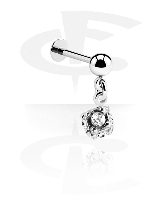 Labrets, Labret with Ball and charm, Surgical Steel 316L