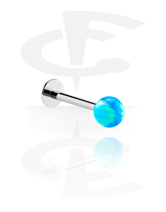 Labrets, Labret with Ball, Surgical Steel 316L, Acrylic