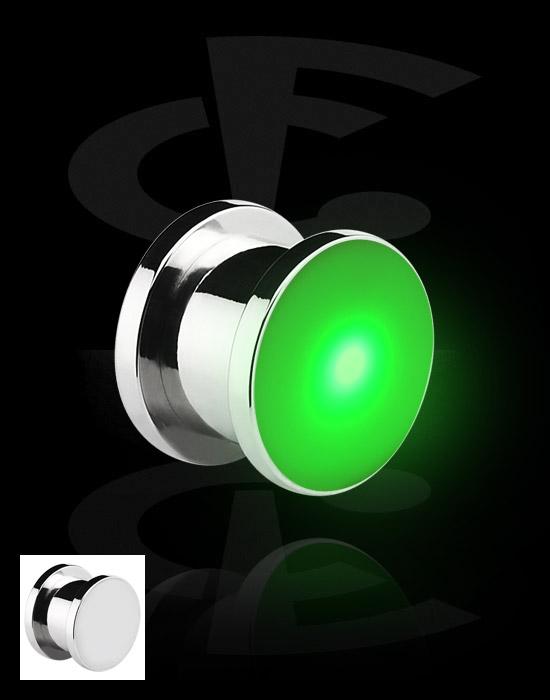 Tunnels & Plugs, Plug LED, Acier chirurgical 316L