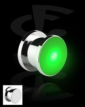 Tunnels & Plugs, Plug LED , Acier chirurgical 316L