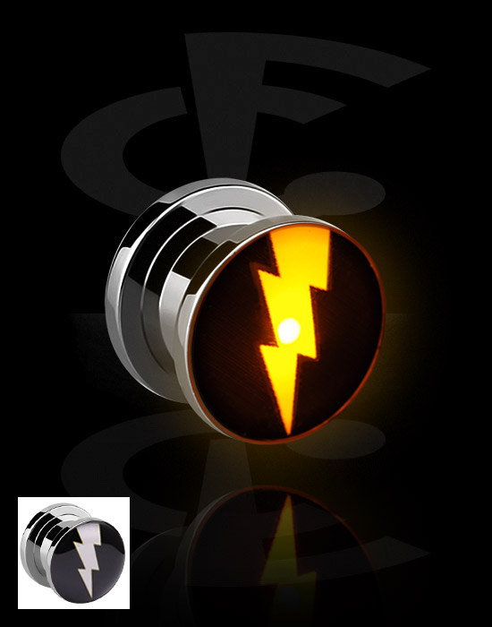 Tunele & plugi, LED Plug, Stal chirurgiczna 316L