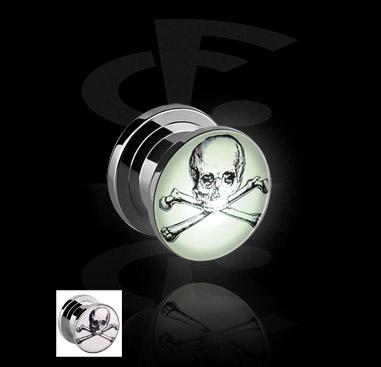 LED Plug with Skull Motive