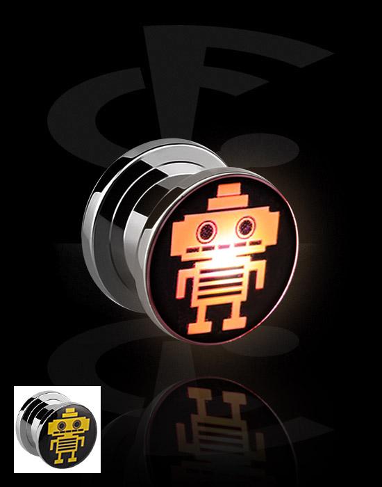 Tunnels & Plugs, LED Plug, Surgical Steel 316L