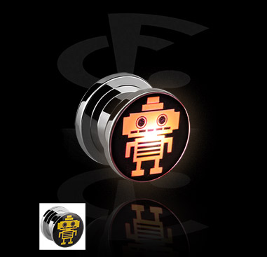 LED Plug met robot-design
