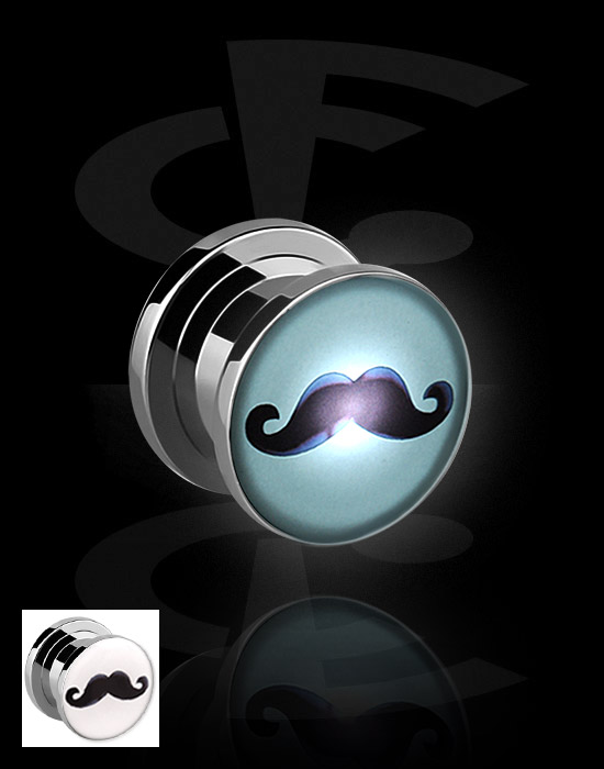 Tunnels & Plugs, LED Plug, Chirurgisch staal 316L