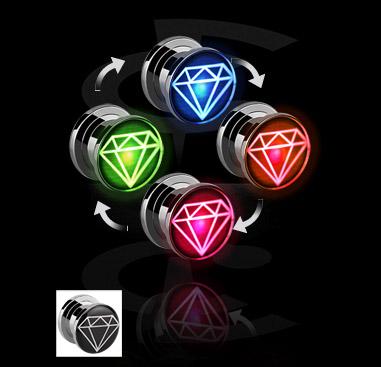 LED Plug com motivo diamante